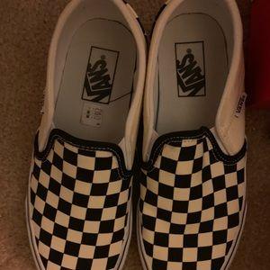 Vans Black and White Checkered Slip On